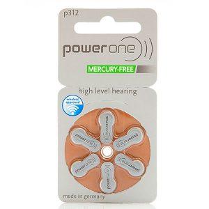 60 pilas para audífonos PowerOne 312